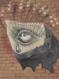 l'oeil fleuri, décor pour le ballet tristan fou by salvador dalí