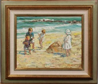 enfants à la plage by jacques albert