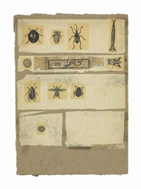 untitled (insects) by robert rauschenberg