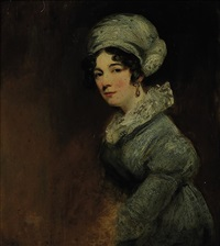portrait of sarah spencer, wife of william, 3rd baron lyttelton by john jackson