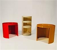 ensemble de trois meubles bonga (various sizes) by jean-louis avril