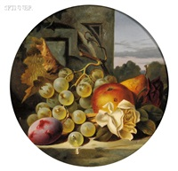 lot of two still lifes by charles e. baskett