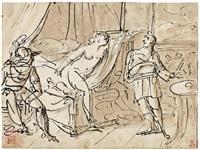 scena di genere e lettura del giuramento dei sassoni by pietro benvenuti