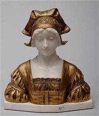 buste de jeune femme by gustave van vaerenbergh