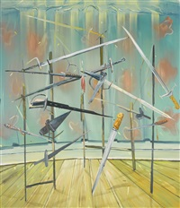 sword painting by dana schutz