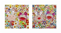 two prints by the artist by takashi murakami
