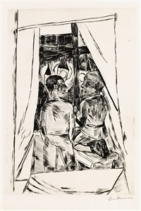 kinder am fenster by max beckmann