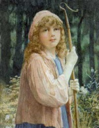 a shepherdess by john scott
