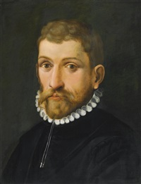 portrait of a man, head and shoulders by cornelis cornelisz van haarlem