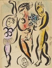 les trois acrobates by marc chagall