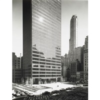 seagram building exterior elevations (2 works) by ezra stoller