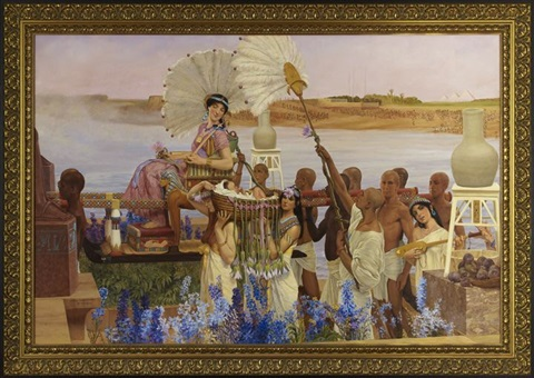 the finding of moses by sir lawrence alma tadema