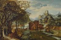 landschaft mit christus auf dem weg nach emmaus by david vinckboons