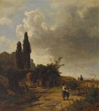 italienische landschaft by oswald achenbach