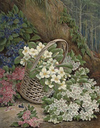 gathering flowers by henry j. livens