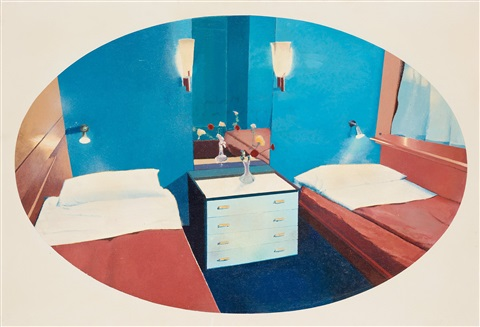 state cabin room 2 by malcolm morley