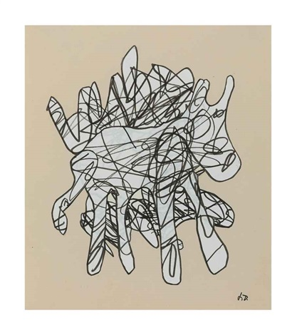animal echappé by jean dubuffet