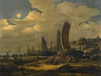 nächtlicher fischmarkt an der küste by egbert lievensz van der poel