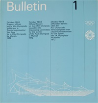 sieben olympia-bulletins (in 7 parts) by otl aicher
