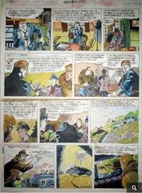 valhardi - planche 63 du récit la fausse loterie publié dans spirou à la fin des années 40 by eddy paape