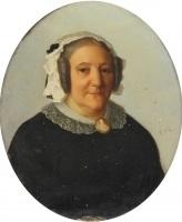 portrait de dame au bonnet by gabriel tyr