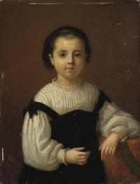 portrait de marie blanche enfant by emma adèle (blanche) roslin