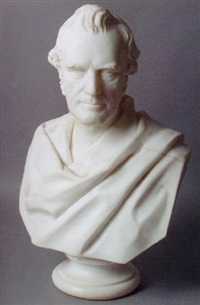 portrait bust (william gladstone?) by william brodie