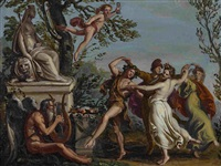 venus in der schmiede des vulkan - bacchanal (2 works) by vincenzo camuccini