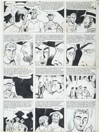 marc dacier - planche 34 de l'album les sept cités de cibola édité en 1963 chez dupuis by eddy paape