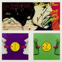 the rolling stones - love you live by andy warhol