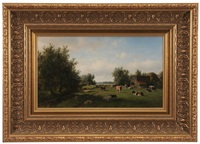 landscape with cows by willem vester