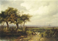 a distant view of london from norwood by charlotte nasmyth