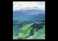 mountain in new green by hitoshi yamaba