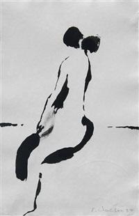 sitzender weiblicher akt (+ daniel; 2 works) by emil wachter