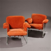 pair of pace argenta lounge chairs by pace manufacturing (co.)