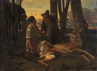 la caza del ciervo by eugène appert