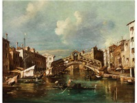 ansicht des canal grande mit rialtobrücke by francesco guardi