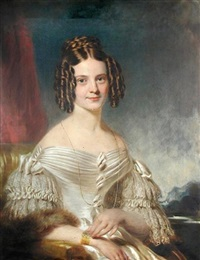 portrait of amelia, lady banks, wife of sir edward banks by william jnr. patten