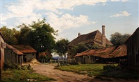 the farmyard by jules françois archille ambroise