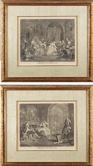 marriage a la mode (6 works) by william hogarth