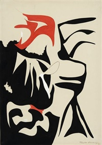 o.t. (abstrakte komposition) by theodor werner