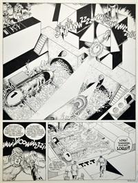 luc orient - planche 16 de l'album rendez vous à 20 heures en enfer édité au lombard en 1994 by eddy paape