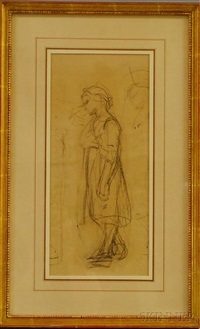 sketch of a girl by william morris hunt
