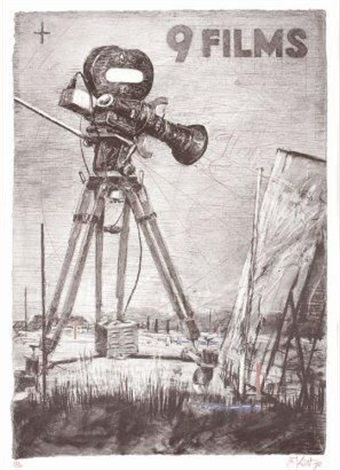 9 films old fort exhibition poster march by william kentridge
