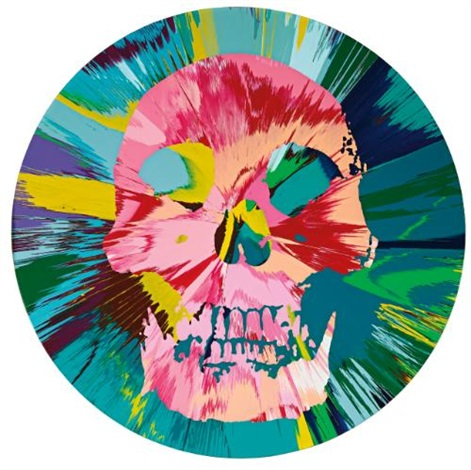beautiful bodhisattva trance painting by damien hirst