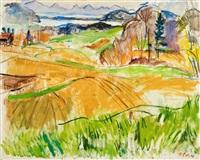 landschaft mit pilsen- und ammersee by hans olde