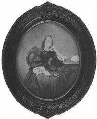 porträt einer jungen frau by alois löcherer