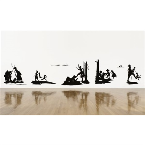 the battle of atlanta being the narrative of a negress in the flames of desire a reconstruction in 19 parts various sizes by kara walker