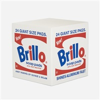 brillo box pouf by andy warhol