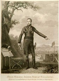 campaigns of the british army in portugal, under the command of general the earl of wellington (portrait frontispiece of wellington + 18 works, folio) by henri lévêque